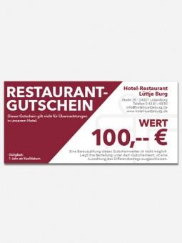 Restaurantgutschein 100,- €