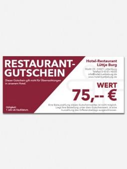 Restaurantgutschein 75,- €