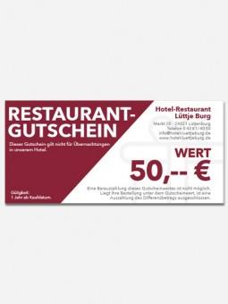 Restaurantgutschein 50,- €